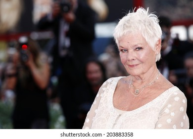 VENICE, ITALY - AUGUST 31: Actress Judi Dench attends the 'Philomenia' premiere during the 70th Venice Film Festival on August 31, 2013 in Venice, Italy.
