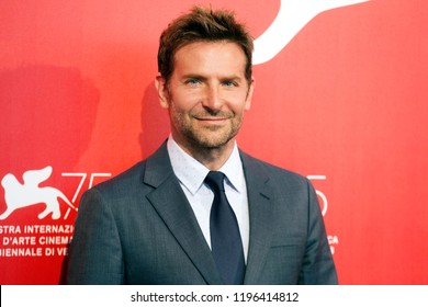 VENICE, ITALY - AUGUST 31: Bradley Cooper attends the photo-call of the movie 'A Star Is Born' during the 75th Venice Film Festival on August 31, 2018 in Venice, Italy.