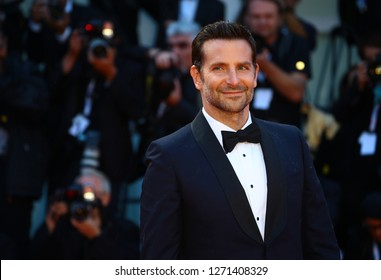 VENICE, ITALY - AUGUST 31: Bradley Cooper walk the red carpet ahead of the 'A Star Is Born' screening during the 75th Venice Film Festival on August 31, 2018 in Venice, Italy
