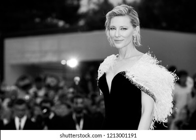 VENICE, ITALY - AUGUST 31: Cate Blanchett attends the premiere of the movie 'A Star Is Born' during the 75th Venice Film Festival on August 31, 2018 in Venice, Italy.