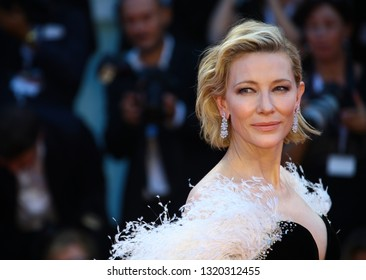 VENICE, ITALY - AUGUST 31: Cate Blanchett walks the red carpet of the 'A Star Is Born' screening during the 75th Venice Film Festival on August 31, 2018 in Venice, Italy
