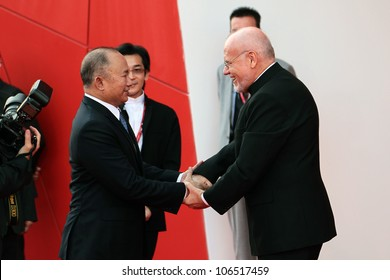 VENICE, ITALY - AUGUST 31: John Woo during the ' Ides of March ' red carpet at the Palazzo Del Cinema during the 68th Venice Film Festival on August 31, 2011 in Venice, Italy.