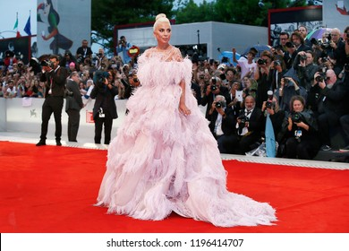 VENICE, ITALY - AUGUST 31: Lady Gaga attends the premiere of the movie 'A Star Is Born' during the 75th Venice Film Festival on August 31, 2018 in Venice, Italy.