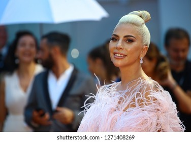 VENICE, ITALY - AUGUST 31: Lady Gaga walks the red carpet ahead of the 'A Star Is Born' screening during the 75th Venice Film Festival on August 31, 2018 in Venice, Italy