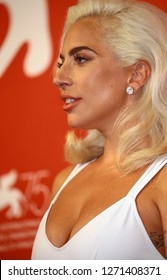 VENICE, ITALY - AUGUST 31: Lady Gaga attend 'A Star Is Born' photocall during the 75th Venice Film Festival at Sala Casino on August 31, 2018 in Venice, Italy.
