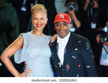 VENICE, ITALY - AUGUST 31: Spike Lee  and Tonya Lewis Lee walks the red carpet of the 'A Star Is Born' screening during the 75th Venice Film Festival on August 31, 2018 in Venice, Italy