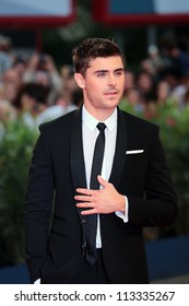 VENICE, ITALY - AUGUST 31: Zac Efron at the Venice Film Festival on August 31, 2012 in Venice, Italy