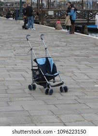 VENICE, ITALY - CIRCA MARCH 2018: babe carriage with no baby