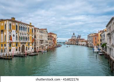 VENICE, ITALY - CIRCA MAY 2016: Grand Canal Venice