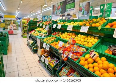 VENICE, ITALY - CIRCA MAY, 2019: produce on display at a supermarket in Venice, Italy.
