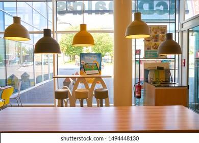 VENICE, ITALY - CIRCA MAY, 2019: interior shot of McDonald's restaurant in Venice..