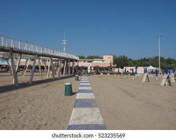 VENICE, ITALY - CIRCA SEPTEMBER 2016: Venezia Lido beach