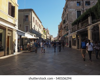 VENICE, ITALY - CIRCA SEPTEMBER 2016: Tourists visiting the city of Venice