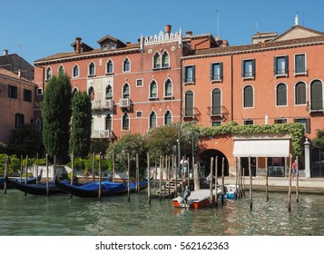 VENICE, ITALY - CIRCA SEPTEMBER 2016: The Canal Grande (meaning Grand Canal)