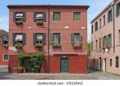 Venice, Italy: Colored old house