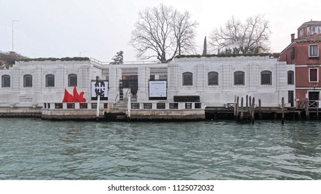 VENICE, ITALY - DECEMBER 18, 2012: Peggy Guggenheim Collection Modern Art Museum at Grand Canal in Venice, Italy.