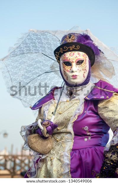 Venice Italy Febrary 21 2019 Masks Stock Photo (Edit Now
