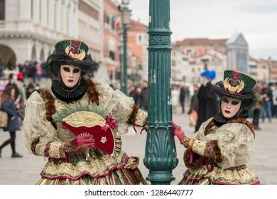 Venice, Italy - february 07 2018. Masks at Venezia Carnival