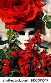 VENICE, Italy - February 15th 2010: Masks at the annual carnival of Venice, one of the most famous and visited of the world. People comes to visit or to show their beautiful hand made costumes