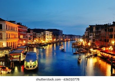 Venice, Italy - grand canal picturesque night view