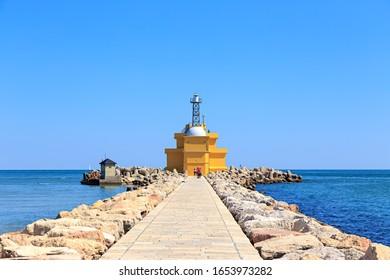 Venice, Italy. Gulf of Venice Lighthouse - Punta Sabbioni Light house