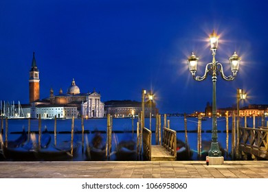 VENICE, ITALY. The islet and the church of San Giorgio Maggiore, as seen from the square of San Marco.