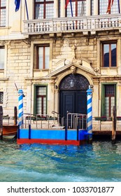 VENICE, ITALY - JANUARY 06, 2018: View on the historic buildings along the Grand Canal during winter days, Venice, Italy