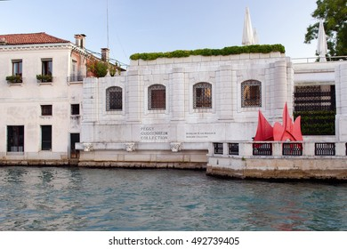 VENICE, ITALY: JANUARY 9: Peggy Guggenheim collection in Venice Italy makes resin reliefs of major works available for blind patrons, on January 9, 2016.