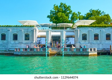 Venice, Italy - June 16, 2018: Peggy Guggenheim Collection Modern Art Museum at The Grand Canal in Venice
