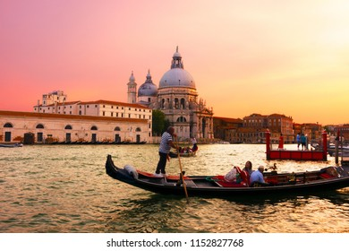 Venice, Italy - June 22, 2018: A woman talking to the oursman.