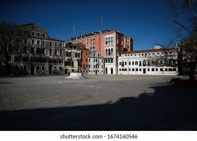 VENICE, ITALY - MARCH 16, 2020: The city of Venice during the quarantine regime due to Coronavirus - Covid19 in  16 March 2020