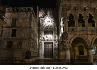Venice, Italy - March 19, 2018: TheDoge's Palace in Venice, Italy. It is apalacebuilt inVenetian Gothicstyle, and one of the main landmarks of the city ofVenicein northernItaly.