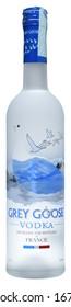 VENICE, ITALY - MARCH 2020. Bottle of Vodka Grey Goose 70cl, 40%Vol.