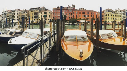 VENICE, ITALY - MARCH 3, 2017: the boats on the Grand Canal