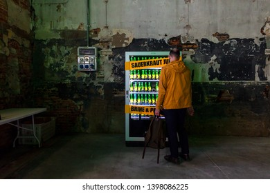VENICE, ITALY - MAY 11: Installation by Slavs and Tatarsexposed at the Arsenale during the 58th International Art exhibition of Venice biennale on May 11, 2019
