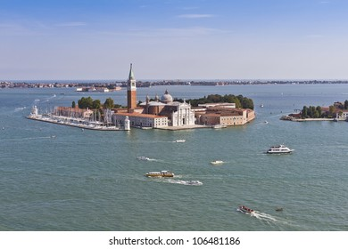 VENICE, ITALY - MAY 4: San Giorgio Maggiore is a 16th century Benedictine church on island of same name in Venice, designed by Andrea Palladio and built between 1566 - 1610. Venice, Italy, May 4, 2012