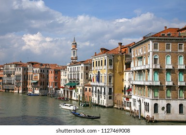 VENICE, ITALY - MAY 7, 2010: View of the Grand Canal in Venice