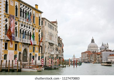 VENICE, ITALY - MAY 8, 2010: View of the marvelous architecture along the Grand Canal in Venice, Italy