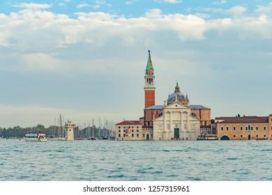 VENICE, ITALY - NOVEMBER 01, 2018: Church of San Giorgio Maggiore in Venice.