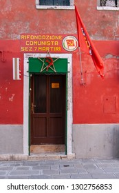 VENICE / ITALY - OCTOBER 12, 2010: The Communist Refoundation Party, italian communist political party building in Venice