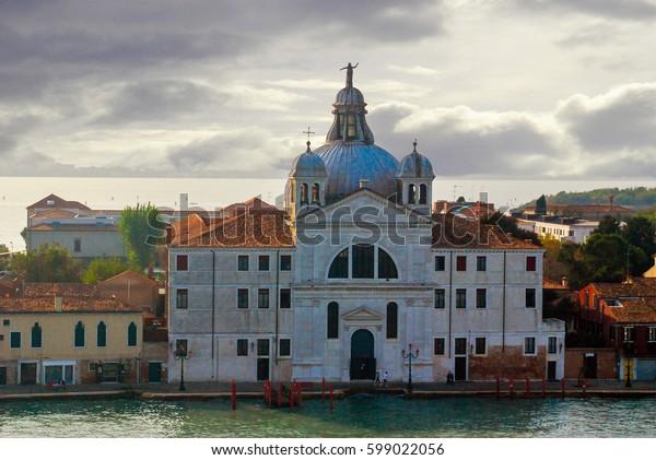 Venice, Italy - October 4, 2009: Church of Le Zitelle officially Santa Maria della Presentazione in Venice