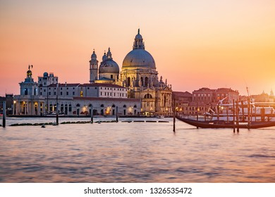 Venice, Italy, Santa Maria della Salute church. Italian landmark. Popular european travel destination.