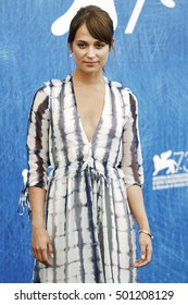 VENICE, ITALY - SEPTEMBER 01: Actress Alicia Vikander attends the photo-call of 'The Light Between Oceans' during the 73rd Venice Film Festival on September 1, 2016 in Venice, Italy.