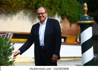 VENICE, ITALY - SEPTEMBER 01: Carlo Verdone is seen during the 75th Venice Film Festival on September 1, 2018 in Venice, Italy.