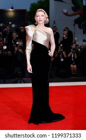 VENICE, ITALY - SEPTEMBER 01: Cate Blanchett walks the red carpet of the movie 'Suspiria' during the 75th Venice Film Festival on September 1, 2018 in Venice, Italy.
