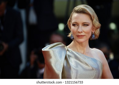 VENICE, ITALY - SEPTEMBER 01: Cate Blanchett walks the red carpet ahead of the 'Suspiria' screening during the 75th Venice Film Festival on September 1, 2018 in Venice, Italy.
