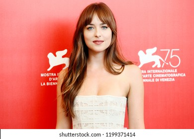 VENICE, ITALY - SEPTEMBER 01: Dakota Johnson attends the photo-call of the movie 'Suspiria'  during the 75th Venice Film Festival on September 1, 2018 in Venice, Italy.
