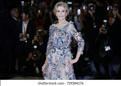 VENICE, ITALY - SEPTEMBER 01: Jane Fonda attends the premiere of the movie 'Our Souls At Night'  during the 74th Venice Film Festival on September 1, 2017 in Venice, Italy.