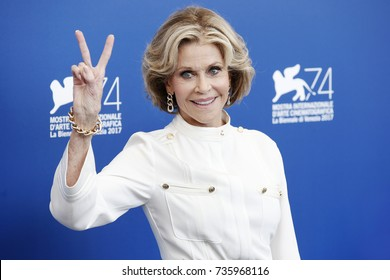 VENICE, ITALY - SEPTEMBER 01: Jane Fonda attends the 'Our Souls At Night' photo-call during the 74th Venice Film Festival on September 1, 2017 in Venice, Italy.
