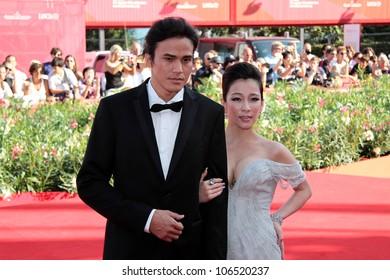 VENICE, ITALY - SEPTEMBER 01: Landy Wen and Umin Boya during the 68th Venice Film Festival on September 01, 2011 in Venice, Italy.